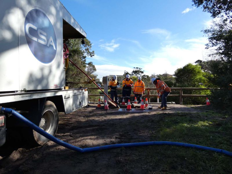Clearing Debris from Drains by CSA Specialised Services
