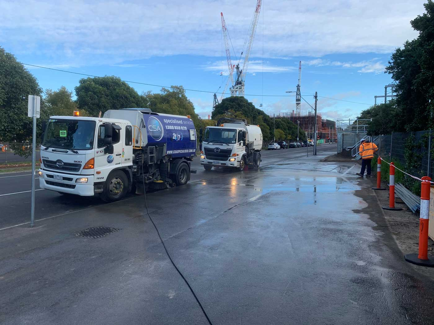 road sweeping services Melbourne